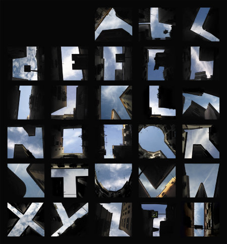 Inspired alphabetical photo colage
